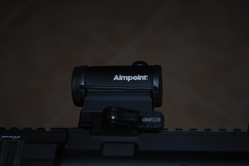 Aimpoint Micro H1, ADM mount on AR-15 || NIKON D80/18-70mm f/3.5-4.5@56 | 1/60s | f4.5 | ISO100 || 2010-08-29 23:59:38