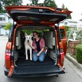 Sarah and Balto with their new ride || DMC-ZS3@4.1 | 1/100s | f3.5 | ISO80 || 2010-09-09 14:21:15
